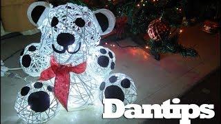 Oso Polar de estambre adorno de Navidad - Dantips