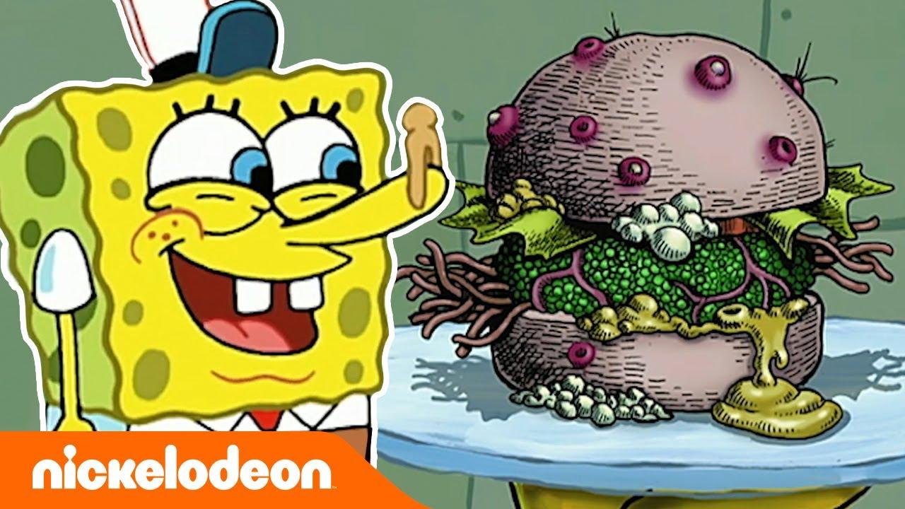 SpongeBob Kanciastoporty | 5-minutowy odcinek | Śmiecioburger | Nickelodeon Polska