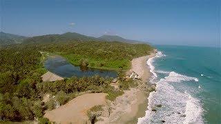 Parque Tayrona - Barlovento Maloka y los Naranjos, Costa Caribe en Colombia, vista desde el aire