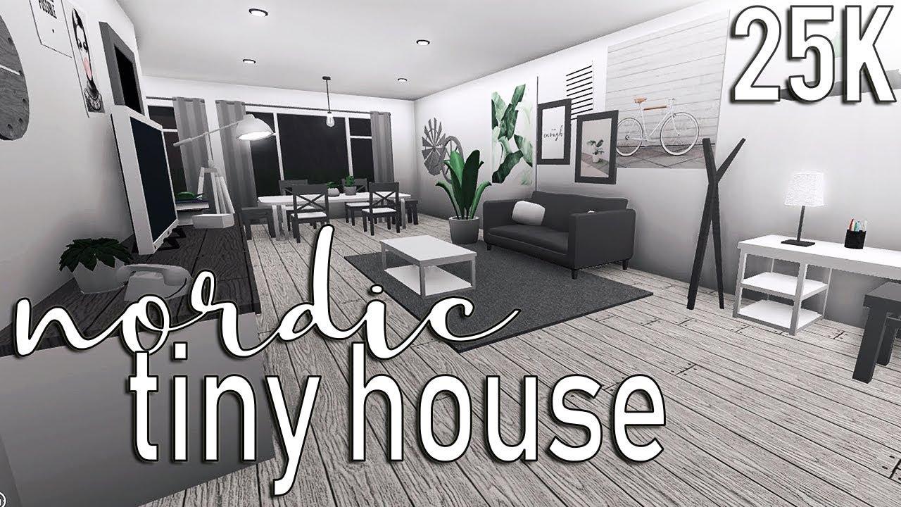 Roblox Welcome To Bloxburg Nordic Tiny House 25k Youtube