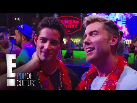 Lance and Michael's Bachelor Party Gets Naughty | E!