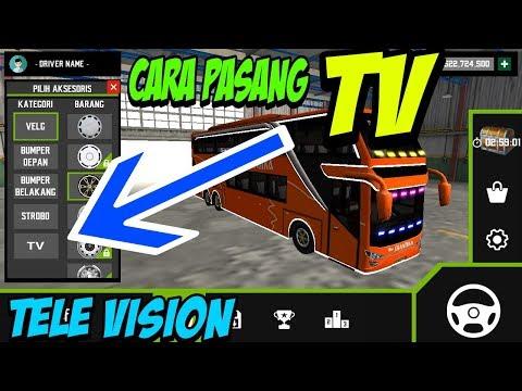 Triq Menambah TV Di Mobile Bus Simulator | Asli
