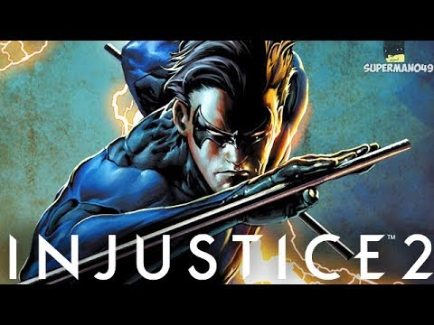 """The Best Staff Of Grayson Combo With Nightwing - Injustice 2 """"Nightwing"""" Gameplay (Epic Gear)"""