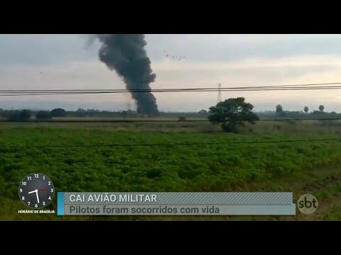 Avião da Força Aérea Brasileira cai no Rio de Janeiro | Primeiro Impacto (24/05/18)