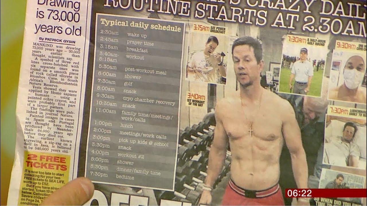 Mark Wahlberg's crazy workout schedule (USA) - BBC News ...