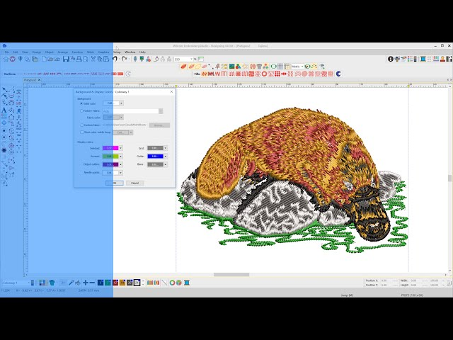 Adjust your Background and display colors in EmbroideryStudio 4.2
