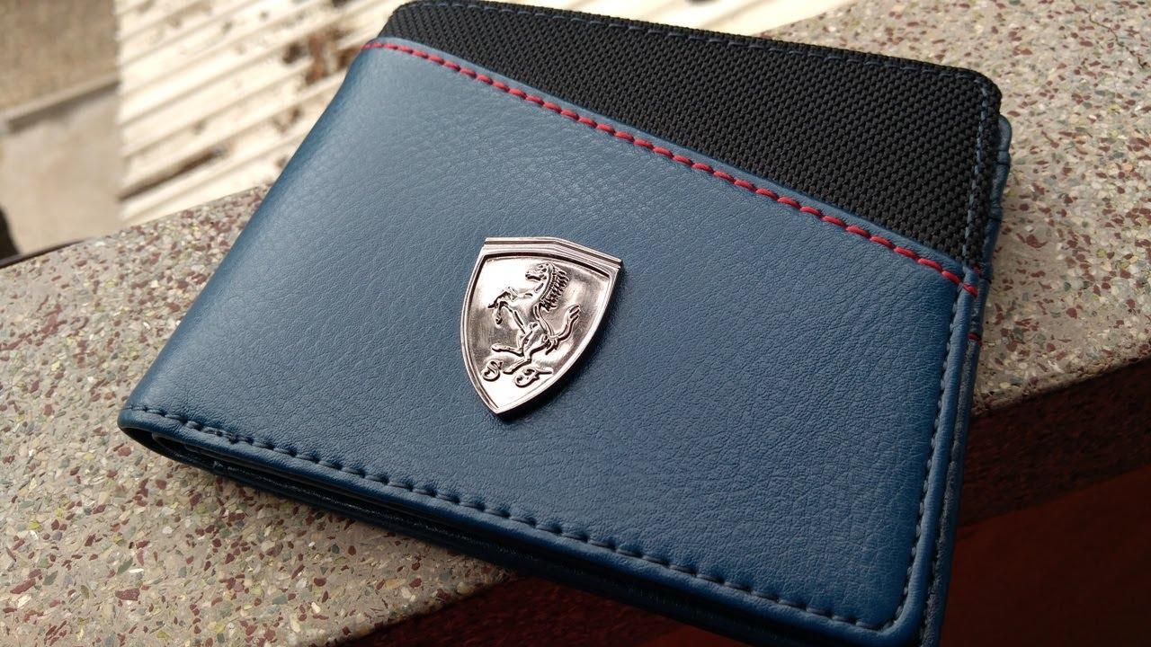 puma ferrari wallet blue