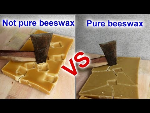 How to identify 100% pure beeswax and not pure beeswax