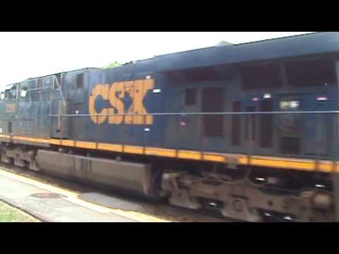 CSX light move with rare YARD SLUG!