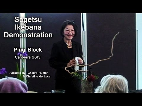Sogetsu Ikebana Demonstration