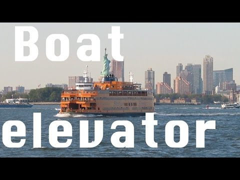 An elevator ... ON A BOAT The Staten Island Ferry Sen. John J. Marchi