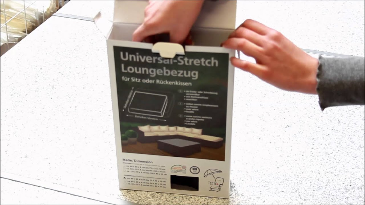 unboxing schonbezug f r lounge kissen youtube. Black Bedroom Furniture Sets. Home Design Ideas