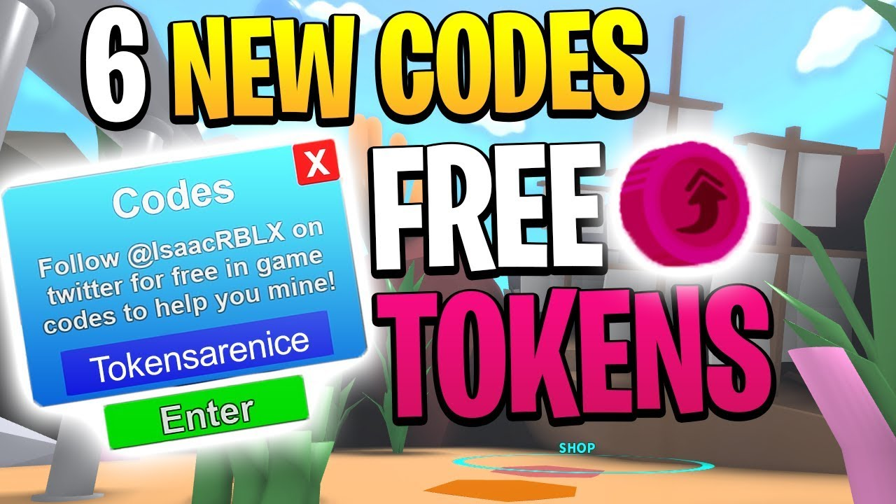 6 New Roblox Mining Simulator Codes Free Rebirth Tokens Youtube