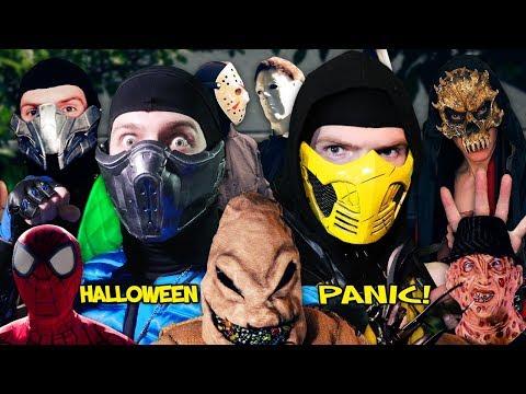 Real Mortal Kombat: Halloween Panic! | MKX PARODY! thumbnail