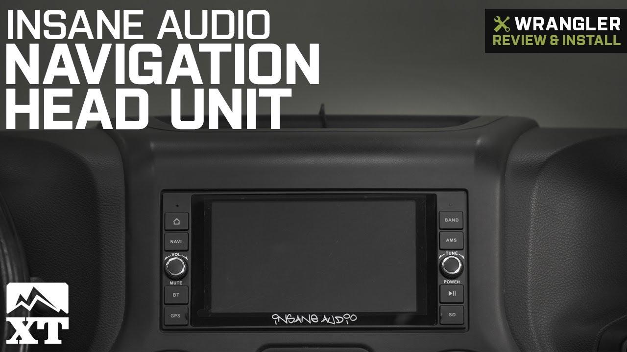 Jeep Wrangler Jk Insane Audio Navigation Head Unit 2007 2018 Review Install
