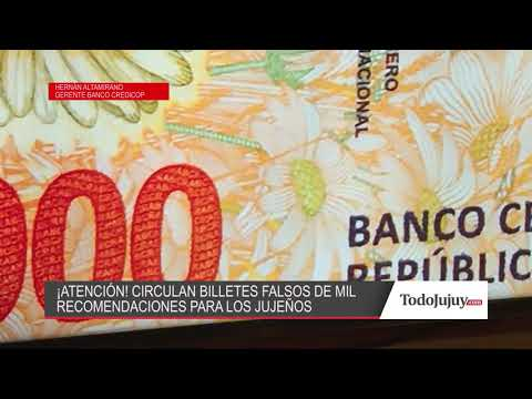 ¡Ojo!, circulan billetes falsos de mil pesos