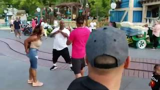 WARNING: GRAPHIC FIGHT AT DISNEYLAND