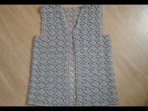 Серый жакет крючком. Часть 3. Сrochet Jacket.