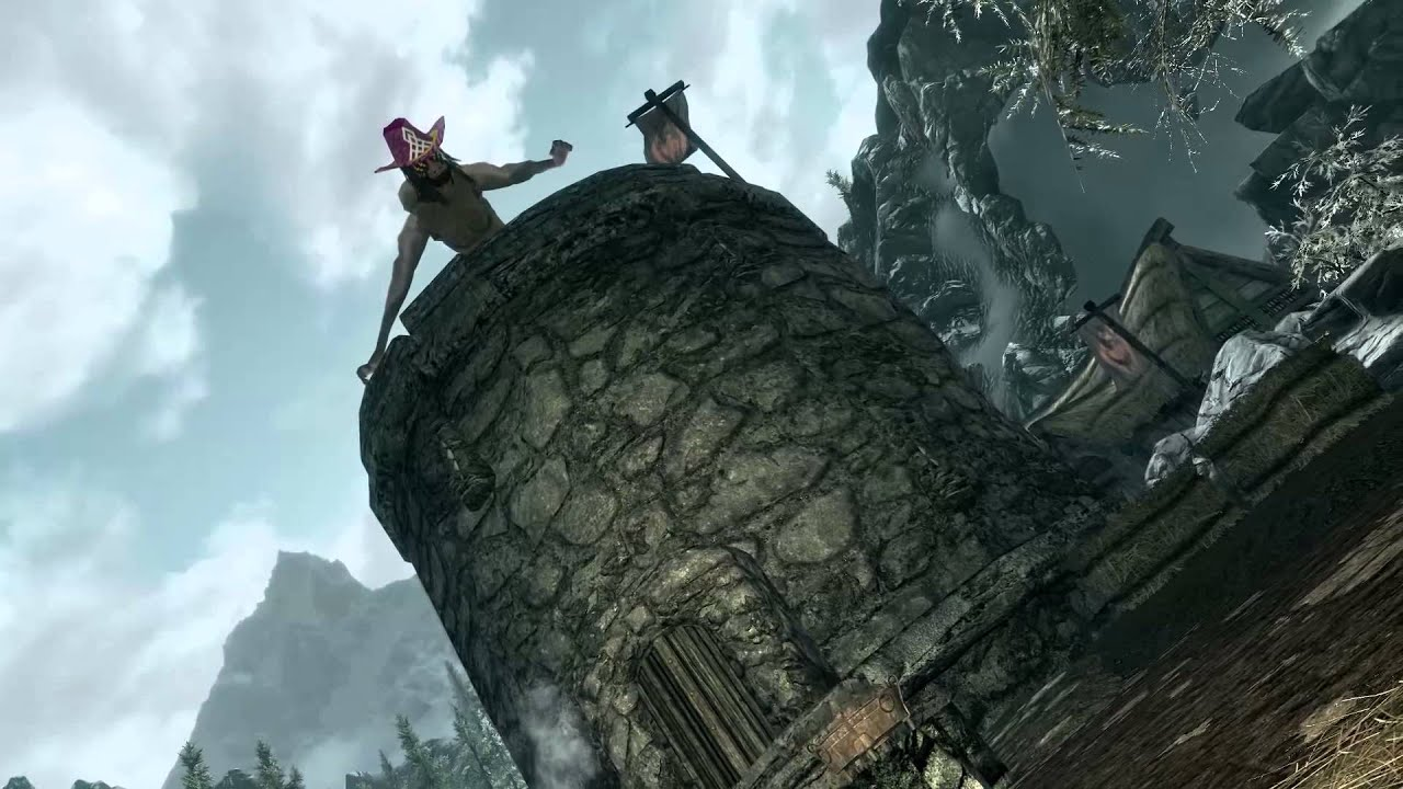 skyrim quotmacho manquot randy savage dragon mod 60fps youtube
