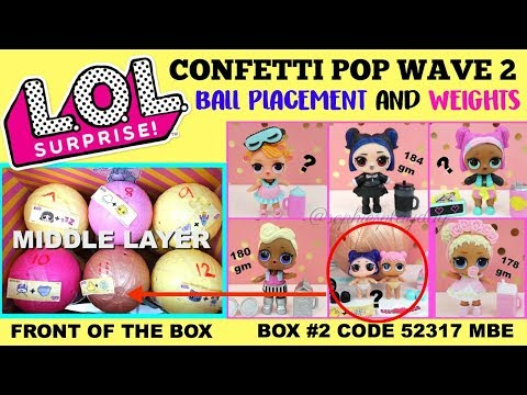 LOL Surprise Confetti Pop WAVE 2 Series 3 Ball Placement and Weight Hacks Twins lil Dusk lil Dawn