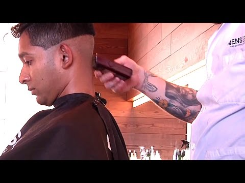 Perfect Pompadour Fade Haircut And Style At Mens Spa Salon in Minneapolis - Haircut ASMR