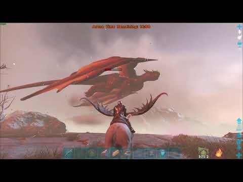 ARK  Official Server | Alpha Dragon Boss Fight