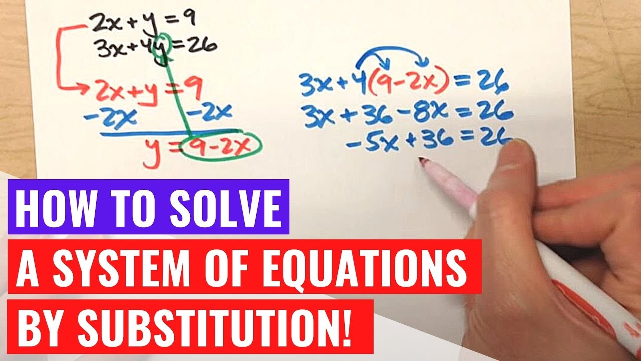 Solving systems of equations by substitution both standard form solving systems of equations by substitution both standard form falaconquin