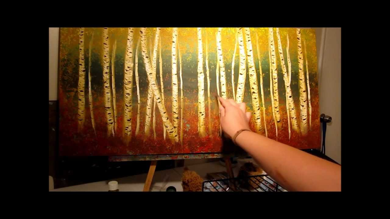 How To Paint Aspen Trees Step By Step Youtube