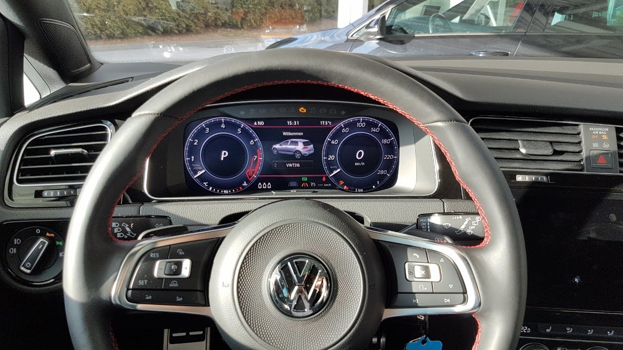 vw golf 7 mk vii gti facelift gp 2017 2018 active info display discover pro