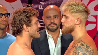 BEN ASKREN & JAKE PAUL TRADE WORDS DURING INTENSE FACE OFF AT WEIGH IN | FULL WEIGH IN VIDEO