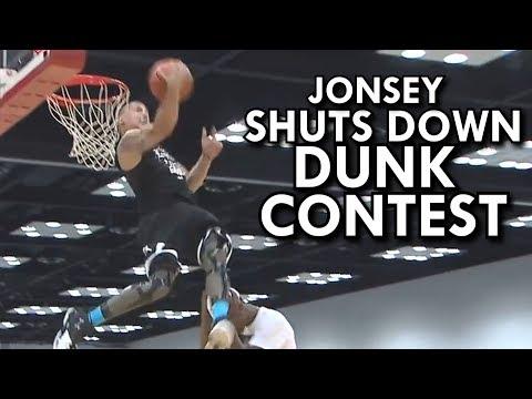 """DUNK CONTEST SHUT DOWN!!! 6'0"""" JONSEY ALL PERFECT DUNKS!"""