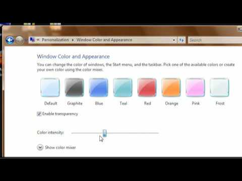 How To Change The Boot Colors On Windows Vista