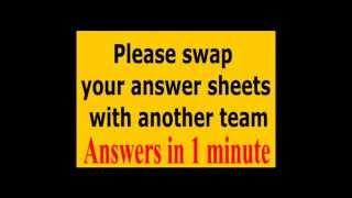 Free Pub Quiz No.30 (Round 1 - General Knowledge)