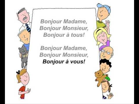 3  Chanson   Bonjour Madame!