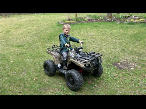 yamaha grizzly atv 24 volt quad for kids youtube. Black Bedroom Furniture Sets. Home Design Ideas