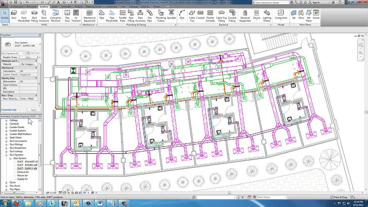 revit for mep - duct and pipe systems