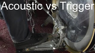 Double Bass Acoustic Vs Trigger