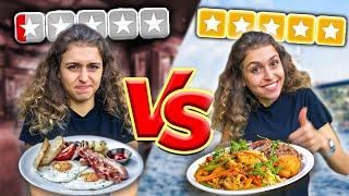 En İYİ VS En KÖTÜ Puanlı Restoranda Yemek Yedim!