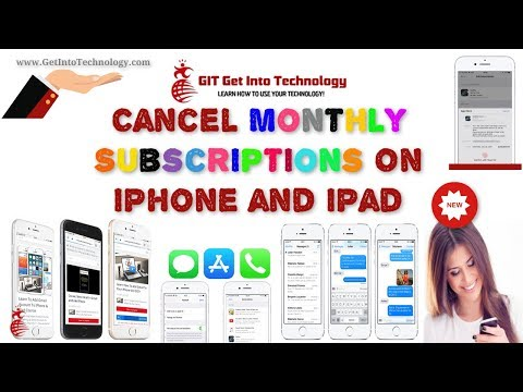 Cancel Monthly Subscriptions On iPhone and iPad
