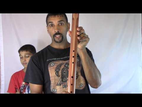 Native American Bass A Flute - Native American Flute - JD Flutes - Cedar - For Sale