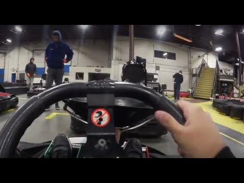 GO KARTING in CANADA in freezing temperatures