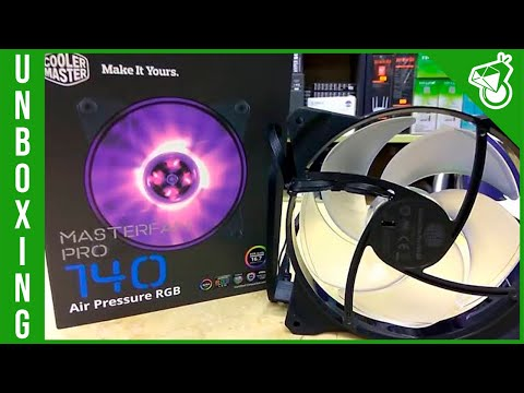 Unboxing - cooler master masterfan pro 140 - air flow e air pressure
