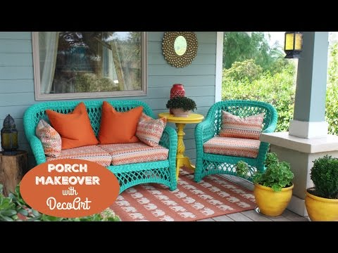 HOW TO: Porch Furniture Makeover