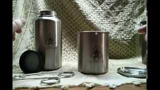 GEN3 Pathfinder Stainless Steel 32 oz. Bottle & Nesting Cup Set
