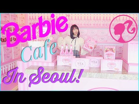 GOING TO BARBIE CAFE IN KOREA & OPENING A LOVE PACKAGE FROM LONDON!!!!