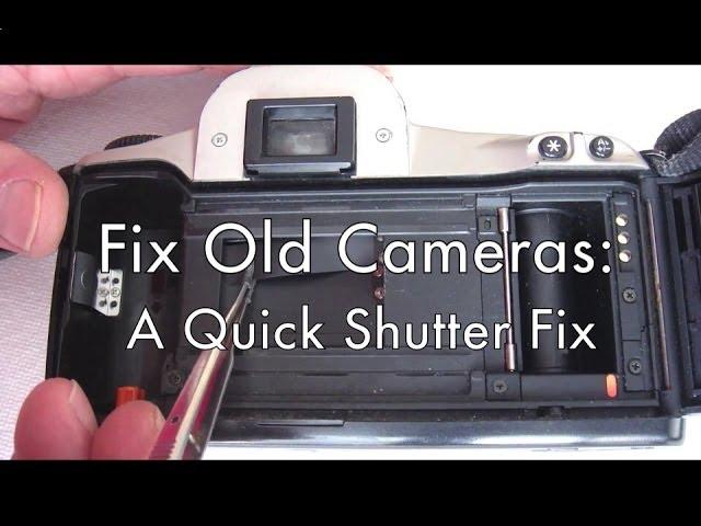 Fix Old Cameras: A Quick Shutter Fix