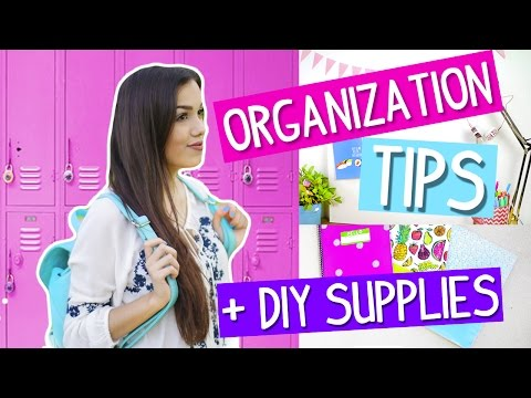 BACK TO SCHOOL DIY SUPPLIES + ORGANIZATION TIPS 2016!!