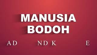 Ada Band - Manusia Bodoh (Karaoke)
