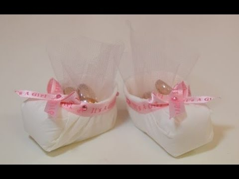 Baby Shower Booties Diy Party Favors Youtube