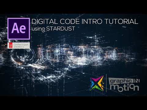 Digital Code Intro using STARDUST- After Effects Tutorial